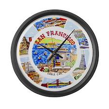Vintage San Francisco Souvenir Gr Large Wall Clock
