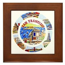 Vintage San Francisco Souvenir Graphic Framed Tile