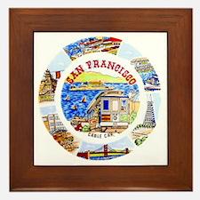 Vintage San Francisco Souvenir Graphic Framed Tile