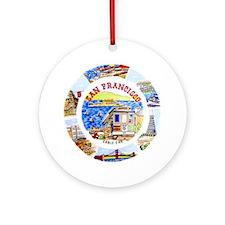 Vintage San Francisco Souvenir Grap Round Ornament