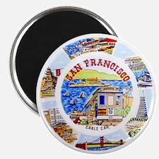 Vintage San Francisco Souvenir Graphics Magnet