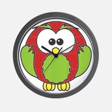 xl xmas owl Wall Clock