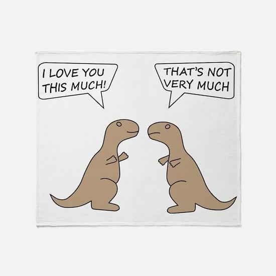 T-Rex Feelings, Hilarious Throw Blanket