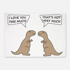 T-Rex Feelings, Hilarious 5'x7'Area Rug