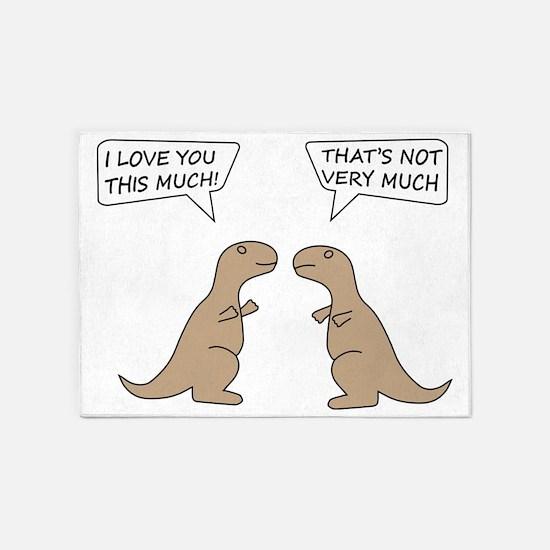 T-Rex Feelings, Hilarious 5'x7'Area Rug