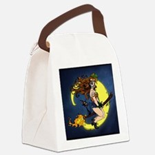 Voodoo Girl Witch Canvas Lunch Bag
