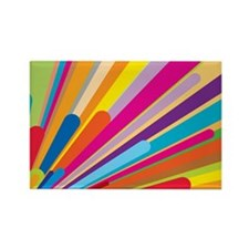Color Explosiion Rectangle Magnet