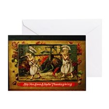 Thanksgiving Doxies 2 Greeting Card