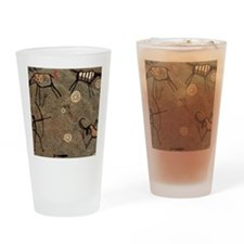 Cave Painting Drinking Glass