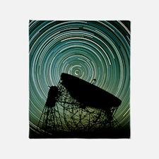 Jodrell bank radio telescope Throw Blanket