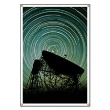 Jodrell bank radio telescope Banner