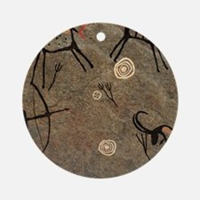 Cave Painting Round Ornament