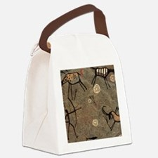 Cave Painting Canvas Lunch Bag