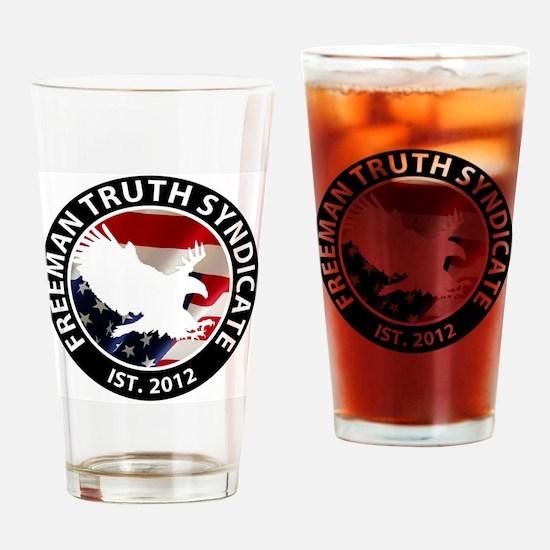 Freeman Truth Syndicate Logo Drinking Glass