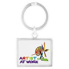 Artist At Work Landscape Keychain