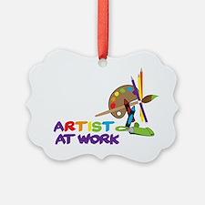 Artist At Work Ornament