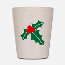 Holly Shot Glass