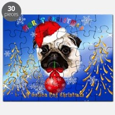 Yard Sign A Merry Christmas Pug Puzzle