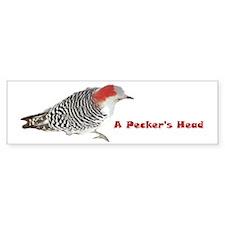 A Pecker's Head Bumper Bumper Sticker