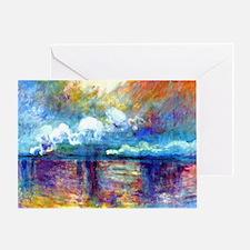Monet Charing Cross Bridge Greeting Card