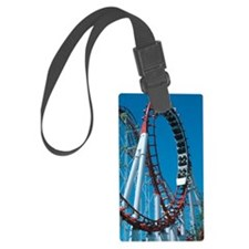Loop section of a rollercoaster  Luggage Tag