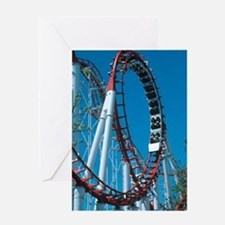 Loop section of a rollercoaster ride Greeting Card