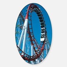 Loop section of a rollercoaster rid Decal