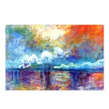 Monet Charing Cross Bridg Postcards (Package of 8)