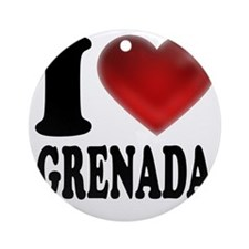 I Heart Grenada Round Ornament