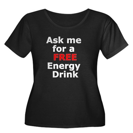 Free Energy Drink Women's Plus Size Scoop Neck Dar