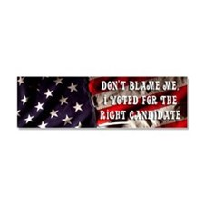 Dont Blame Me Large Sticker Car Magnet 10 x 3