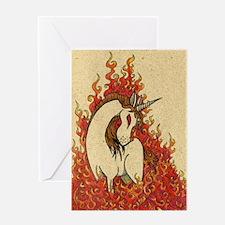 Corn Dog of Fire Greeting Card