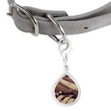 Close-up of a piano's inter Small Teardrop Pet Tag