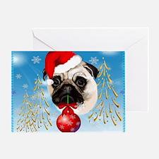 Calender A Very Merry Christmas Pug Greeting Card