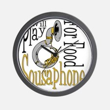 Will Play Sousaphone Wall Clock