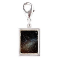 Leonid meteors Silver Portrait Charm