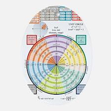 Unit Circle, Radians, Equations Oval Ornament