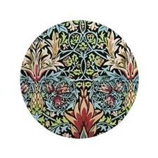 """William Morris Design 3.5"""" Button"""