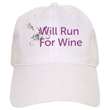 Will Run For Wine Baseball Cap