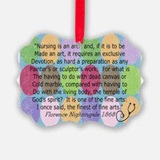 Florence Nightingale Quote Bag Ornament