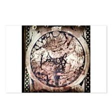 Circular World Map Postcards (Package of 8)
