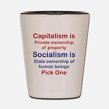 CAPITALISM IS...SOCIALISM IS... Shot Glass