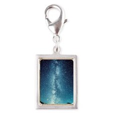 milky way Silver Portrait Charm