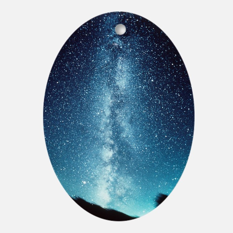 milky way Oval Ornament