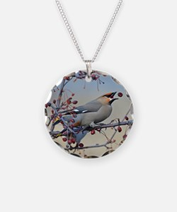 Bohemian waxwing gell mousep Necklace
