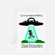 Cycling Hazards - Close encounters Greeting Card