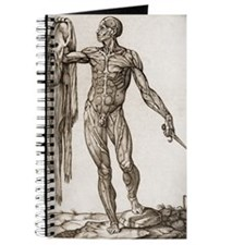 Man holding a dagger and his skin Journal