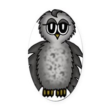 cute owl Oval Car Magnet