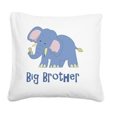 Elephant Big Brother Square Canvas Pillow