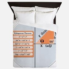 Pythagorean Theorem Queen Duvet